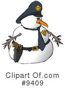 Royalty-Free (RF) Snowman Clipart Illustration #9409