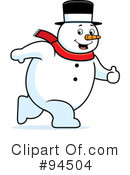 Snowman Clipart #94504 by Cory Thoman