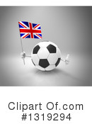 Soccer Ball Character Clipart #1319294