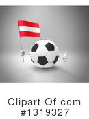 Soccer Ball Character Clipart #1319327