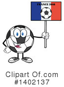 Soccer Ball Character Clipart #1402137 by Hit Toon