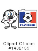 Soccer Ball Character Clipart #1402139 by Hit Toon