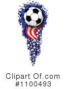 Royalty-Free (RF) Soccer Ball Clipart Illustration #1100493