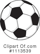 Royalty-Free (RF) Soccer Ball Clipart Illustration #1113539
