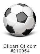 Royalty-Free (RF) Soccer Ball Clipart Illustration #210054