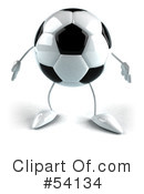 Royalty-Free (RF) Soccer Ball Clipart Illustration #54134