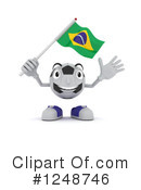 Royalty-Free (RF) Soccer Ball Mascot Clipart Illustration #1248746