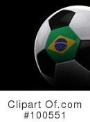 Royalty-Free (RF) Soccer Clipart Illustration #100551