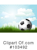 Royalty-Free (RF) Soccer Clipart Illustration #103492