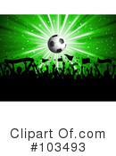 Royalty-Free (RF) Soccer Clipart Illustration #103493