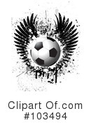 Royalty-Free (RF) Soccer Clipart Illustration #103494
