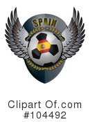 Royalty-Free (RF) Soccer Clipart Illustration #104492