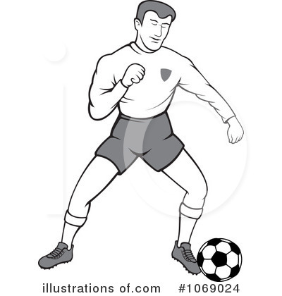 Male Soccer Player Clipart #1069024 by Any Vector