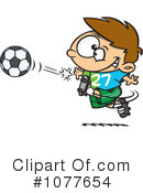 Royalty-Free (RF) soccer Clipart Illustration #1077654