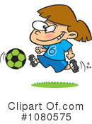 Royalty-Free (RF) Soccer Clipart Illustration #1080575