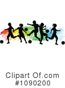 Royalty-Free (RF) soccer Clipart Illustration #1090200