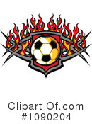 Royalty-Free (RF) Soccer Clipart Illustration #1090204