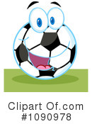 Royalty-Free (RF) Soccer Clipart Illustration #1090978