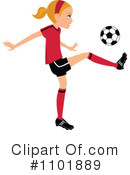 Royalty-Free (RF) soccer Clipart Illustration #1101889