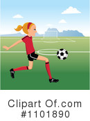 Royalty-Free (RF) soccer Clipart Illustration #1101890