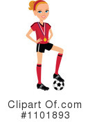 Royalty-Free (RF) Soccer Clipart Illustration #1101893