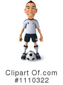 Royalty-Free (RF) soccer Clipart Illustration #1110322