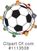 Royalty-Free (RF) Soccer Clipart Illustration #1113538