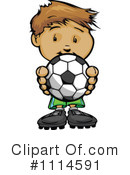 Royalty-Free (RF) Soccer Clipart Illustration #1114591