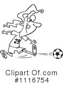 Royalty-Free (RF) Soccer Clipart Illustration #1116754