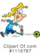 Royalty-Free (RF) Soccer Clipart Illustration #1116787