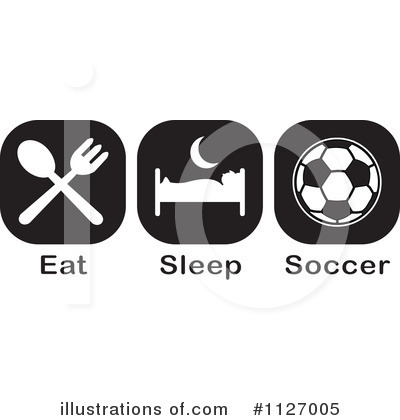 Soccer Clipart #1127005 by Johnny Sajem