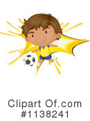 Royalty-Free (RF) Soccer Clipart Illustration #1138241