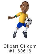 Royalty-Free (RF) soccer Clipart Illustration #1160616