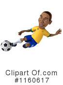 Royalty-Free (RF) soccer Clipart Illustration #1160617