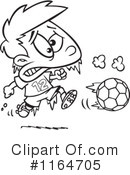 Royalty-Free (RF) soccer Clipart Illustration #1164705