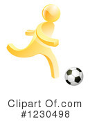 Royalty-Free (RF) Soccer Clipart Illustration #1230498