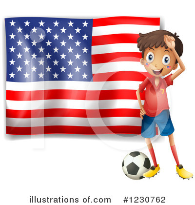 American Flag Clipart #1230762 by Graphics RF