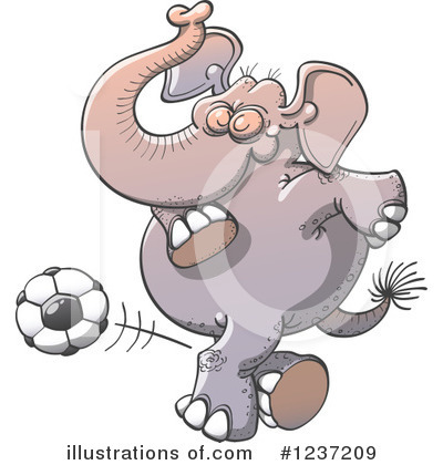 Football Clipart #1237209 by Zooco
