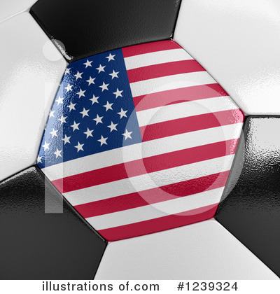 American Flag Clipart #1239324 by stockillustrations
