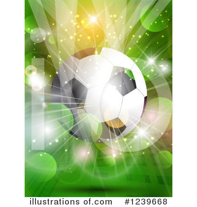 Soccer Clipart #1239668 by KJ Pargeter