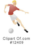 Royalty-Free (RF) soccer Clipart Illustration #12409