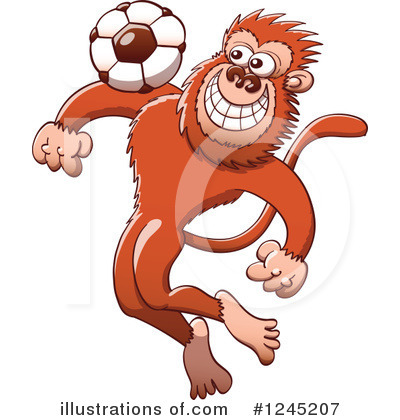 Football Clipart #1245207 by Zooco