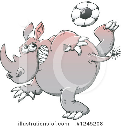 Football Clipart #1245208 by Zooco