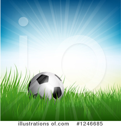 Soccer Clipart #1246685 by KJ Pargeter