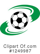 Royalty-Free (RF) Soccer Clipart Illustration #1249987