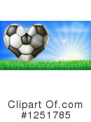 Royalty-Free (RF) Soccer Clipart Illustration #1251785