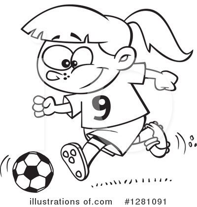 Soccer Clipart #1281091 by toonaday