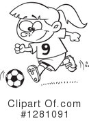 Royalty-Free (RF) Soccer Clipart Illustration #1281091