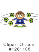 Royalty-Free (RF) Soccer Clipart Illustration #1281108