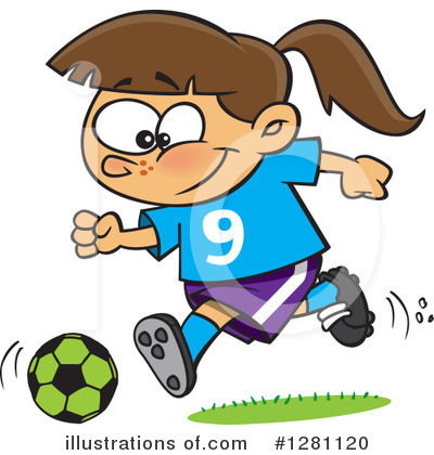 Soccer Clipart #1281120 by toonaday